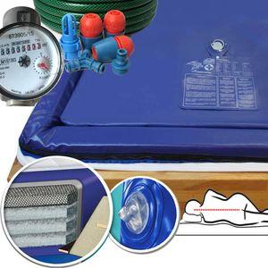 Traumreiter 2X 90x200 Wasserbettmatratze 180x200 Mesamoll 2 + Schlauch + Wasserzähler für richtige Wasserbett Füllmenge  I F7 0 Sekunden