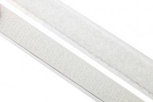 dalipo, Klettband selbstklebend, 10mm, komplett - Farbe: weiß