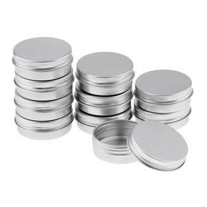 Schraubdose 30ml, Alu-Tiegel aus Aluminium, m. Schraub-Deckel, Kosmetik Alu-Dose, Leer, Cremedose