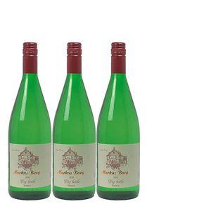 Weißwein Mosel Riesling Weingut Markus Burg Qualitätswein Big Bottle lieblich und vegan (3 x 1,0l)