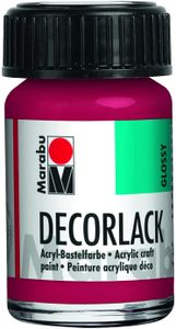 "Marabu Acryllack ""Decorlack"" karminrot 15 ml im Glas"