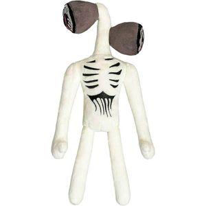 Siren Head Plüschtier Horror Cartoon Cat Plush Gefüllte Puppe Scary Monster Toy, Main Farbe:White,40cm