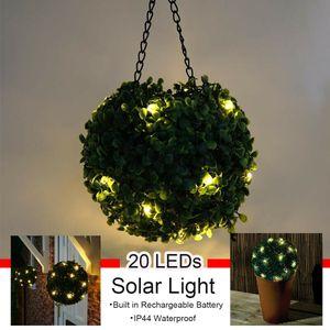 LED Solar Garten Buchsbaumkugel Buchskugel Buchsbaum Kunstbaum Beleuchtung