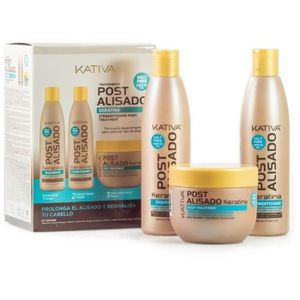 Kativa Set Keratina Straightening Post Treatment 250ml + 250ml + 250ml