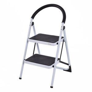 COSTWAY Trittleiter Klapptritt Stehleiter Haushaltsleiter Stufenleiter Stufenstehleiter 2 Stufen klappbar Metall 150KG