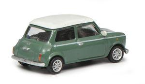 Schuco Mini Cooper grün/weiß 1:87
