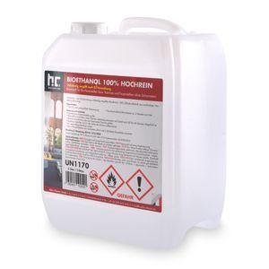 1 x 5 Liter Bioethanol Hochrein 100 % rauch- und rußfrei in Kanistern
