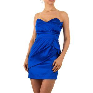 Ital-Design Damen Kleider Cocktail- & Partykleider Blau Gr.34