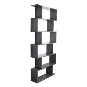 Bücherregal S-Form Beton Standregal Raumteiler Wandregal Regal