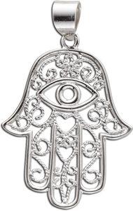 Anhänger Fatimas Hand Schützende Hand Engel-Rufer Sterling Silber 925