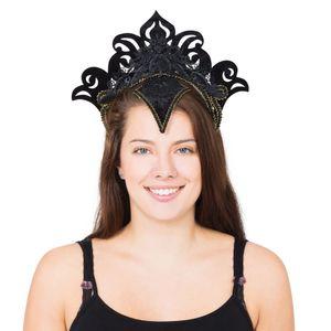 Bristol Novelty Karneval-Kopfschmuck mit Goldrand BN1187 (Einheitsgröße) (Schwarz)