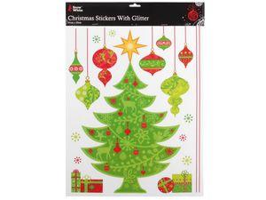 Fenstersticker Weihnachten Merry Christmas Fensterdeko Weihnachtsbaum Fenstertattoo Fensterbilder haftende Fenster Aufkleber ALSINO, Variante wählen:P451/870-1