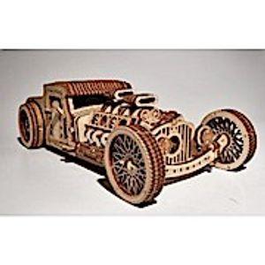Wood Trick - Holz Modellbau Hot Rod Oldtimer Rennauto 280 Teile