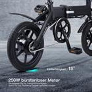 Huicheng Elektro-Klapprad K1-002 KSB14, 14 Zoll, 250W, 36V, 10Ah, max. Geschwindigkeit 25 km/h, bürstenloser Motor