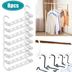 8er Pack Kleiderbügel Organizer Schrank Platzsparend Sparen Sie Kunststoff-Kleiderbügelhaken