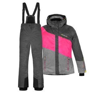 Skianzug Damen Jacke + Hose - Gr. 42 - Gr. 42   grau-pink