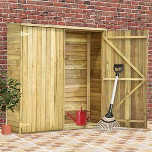 Holz Gerätehaus ,Geräteschuppen ,Gartenhaus ,Garten-Lagerschuppen 163x50x171 cm Kiefernholz Imprägniert