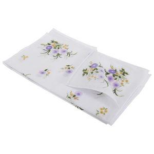 Damen Taschentücher mit Blumenmuster, 8 Stück HAND103 (Einheitsgröße) (Ringelbordüre)