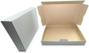 verpacking 50 Maxibriefkartons Versandkartons Faltschachtel Faltkarton Maxibrief 320 x 225 x 50 mm   Weiss   MB-4