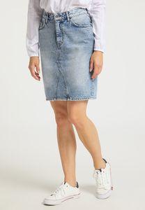 MUSTANG Damen Rock Jeansrock Regular Fit Farbe: hellblau Größe: 27