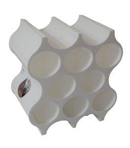 Flaschenregal Weiß 3596, Polypropylen, Höhe: 364 mm/Breite: 353 mm