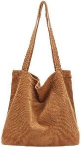 Damen Grosse Kapazität Cord Schultertasche Retro Handtasche Mode Einkaufstasche Tägliche Tasche