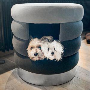 Hundehöhle Choupette   Grau   Hundebett, Kuschelhöhle und Hocker für Hunde