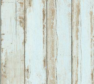 A.S. Création Tapete in Holzoptik Il Decoro Vliestapete blau braun schwarz 10,05 m x 0,53 m