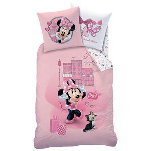 Minnie Mouse Biber / Flanell Bettwäsche 80x80 + 135x200 cm, 100 % Baumwolle