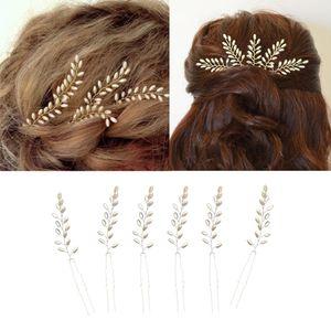 6pcs Kunstperle Haarnadeln Haarnadel Stirnband Haarschmuck Kopfschmuck