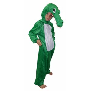 Kinder Krokodil Kostüm (Overall mit Kapuze) Größe: 128