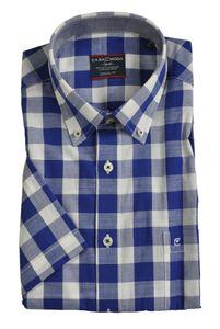 Casa Moda - Casual Fit - Herren Freizeit 1/2-Arm-Hemd in verschiedenen Farben mit Button-Down-Kragen (983079000A), Größe:L, Farbe:Blau (100)