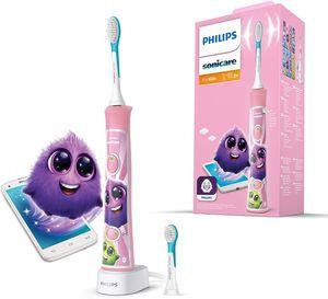 Philips Sonicare For Kids Elektrische Zahnbürste HX6352/42, mit Schalltechnologie, für Kinder, sanfte Reinigung, Pink