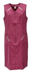 Reißverschlusskittel RV Kittel Hauskleid Schürze , Größe:48, Farbe:fuchsia