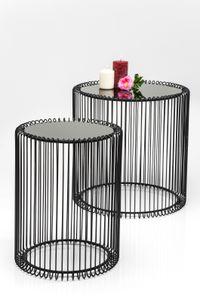 Kare Beistelltisch Wire Black ( 2/Set) ; Maße (HxBxT): 45 cm x 44 cm x 44 cm, 79578