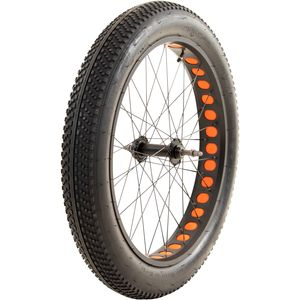 Fatbike Laufradsatz 26 Zoll x 4,0 Zoll einzeln oder als Set Fahrrad Mountainbike MTB mit Mittelsteg, Farbe:orange, Ausführung:hinten