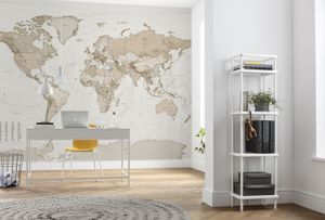 "Komar Vlies Fototapete ""Earth Map"" - Größe: 350 x 250 cm (Breite x Höhe), 7 Bahnen"