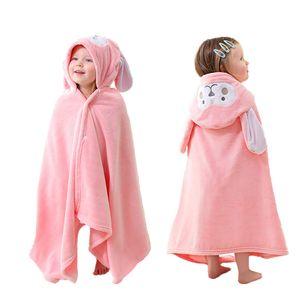 Badetuch Kinder Kapuze   Baby Handtuch Kapuze   (Rosa, 70x140cm)Hase Design  Kinder Schwimmtuch Mit Kapuzenhandtuch Übergroß weiches und super saugfähiges maschinenwaschbares Badetücher