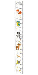 Meßlatte Kinder Kinderzimmer Wandtattoo Wandsticker Messleiste Baby Wachstumsmaßnahme Höhenmesser 5-200 cm Waldtiere