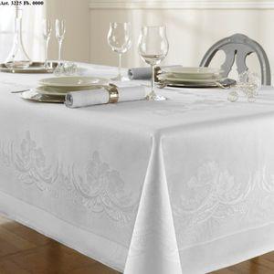 Curt Bauer Tischwäsche Damast Tischwäsche Tischtuch ca. 130 x 170 cm 3225-0000 Rosanna weiß