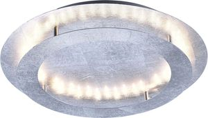 Paul Neuhaus LED Deckenleuchte Nevis aus Metall in Silber, 500 mm