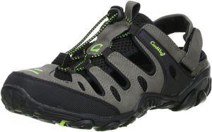 ConWay Damen Herren Trekkingsandalen Outdoorschuhe schwarz/grau/grün, Größe:39, Farbe:Grau
