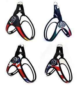 Tre Ponti Geschirr Easy Fit Nations mit Click-Verschluss in div. Größen, Größe:Gr.3 / 42-46cm / bis 7kg, Farbe:USA
