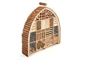 Insektenhotel LUXURY XXL in Bogenform aus Holz - Zweigeteilt