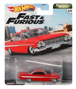 Mattel GBW75, GJR69 - Hot Wheels Premium Car Fast & Furious - Motor City Muscle - 61er Impala