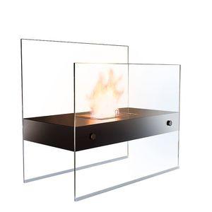 Bioethanol Standkamin aus Glas, Ethanol Kamin, Dekofeuer fürs Wohnzimmer, Kamin ohne Abzug, Wohndekoration, Wohnaccessoire