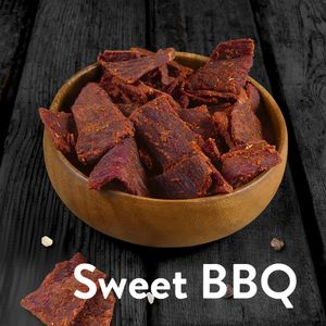 1kg Beef Jerky (8 x 125g) Sweet BBQ - 3Yo Nutrition - 51% Protein Biltong Trockenfleisch Fitnesssnack