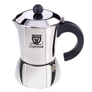 GRÄWE Espressokocher aus Edelstahl für 4 Tassen