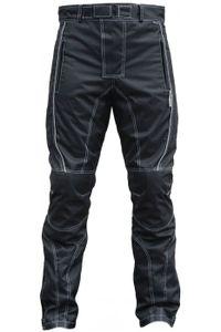 Herren Motorradhose Textilien Motorrad Hose Kombihose Schwarz, Größe:52/L