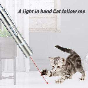 USB Wiederaufladbare Katzenspielzeug Laser lustige Katzenstäbchen Interaktive Katzen Chaser Spielzeug